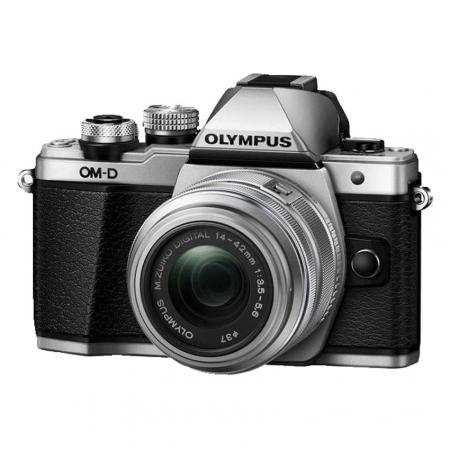 Olympus OM-D E-M10 Mark II argintiu kit cu EZ-M1442 II R argintiu