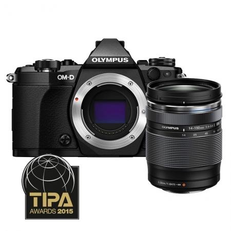 Olympus OM-D E-M5 Mark II kit 14-150mm f/4-5.6 II - negru / negru