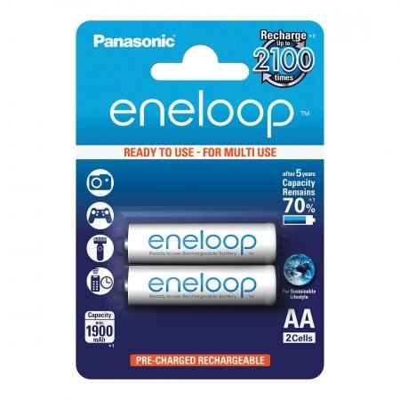 Panasonic Eneloop - set 2 acumulatori R6 AA 1900mAh