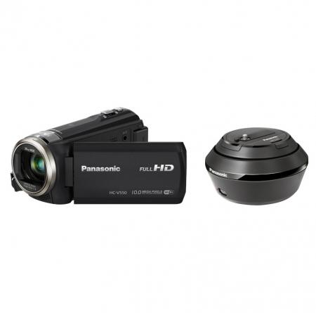 Panasonic HC-V550EPCT-K Negru + Cap rotativ VW-CTR1 RS125012150-1