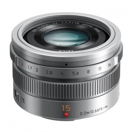 Panasonic LUMIX G Leica DG Summilux 15mm f/1.7 ASPH argintiu pentru MFT