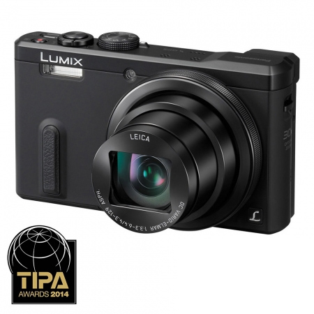 Panasonic Lumix TZ60 - 18 Mpx, zoom optic 30x, Wi-Fi, GPS - black