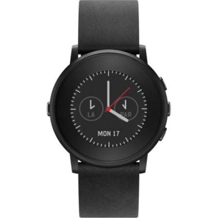 Pebble Smartwatch Time Round Negru 601-00049