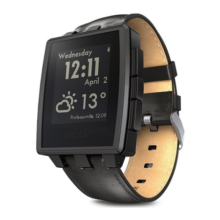 Pebble Steel - ceas inteligent - Matte Black