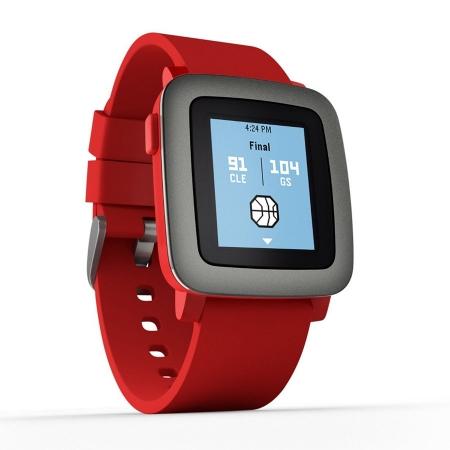 Pebble Time - ceas inteligent rosu - 501-00022