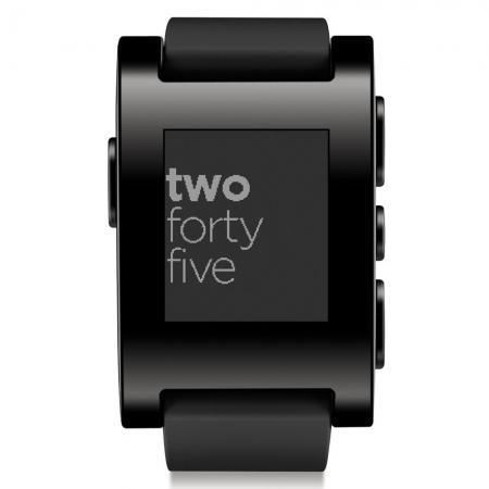 Pebble - ceas inteligent pentru iPhone si Android - negru