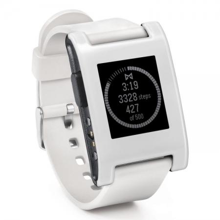 Pebble - ceas inteligent pentru iPhone si Android - alb