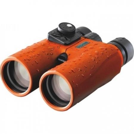 Pentax Marine Hydro Compass - Binoclu 7x50, portocaliu
