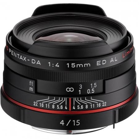 Pentax Ricoh 15mm F4 DA ED HD AL Limited - negru