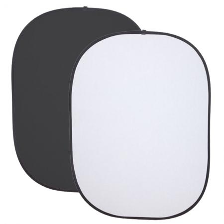 Phottix Collapsible Background - alb / negru  - 1.5 X 2m