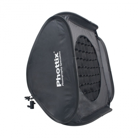 Phottix Easy-Folder Softbox Deluxe Kit 60 x 60cm + masca rotunda si grid