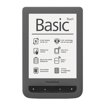 PocketBook Basic Touch 624 - E-Book Reader - gri