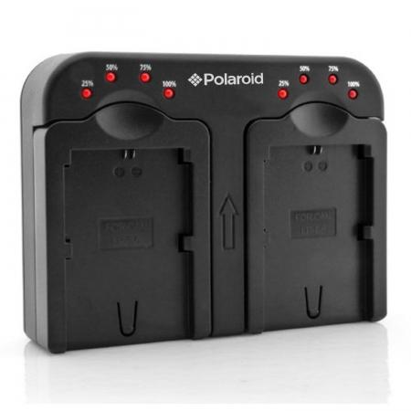 Polaroid PLCH2CN36 - Incarcator Dual pentru Canon NB2L, BP2L12, LPE5, NB7L