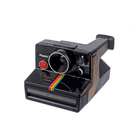 Polaroid SX-70 Rainbow Stripe Presto - Aparat foto instant, Negru