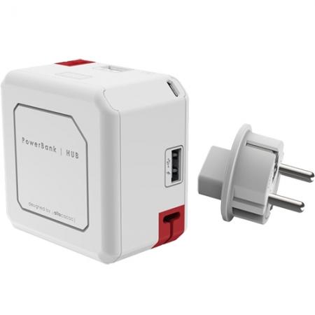 Power Cube Hub Cu 4 Porturi USB + Baterie Externa 4800mAh