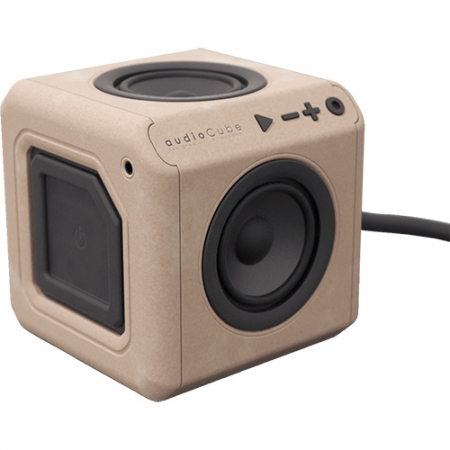 Power Cube Wood edition - Boxa Portabila Bluetooth 360