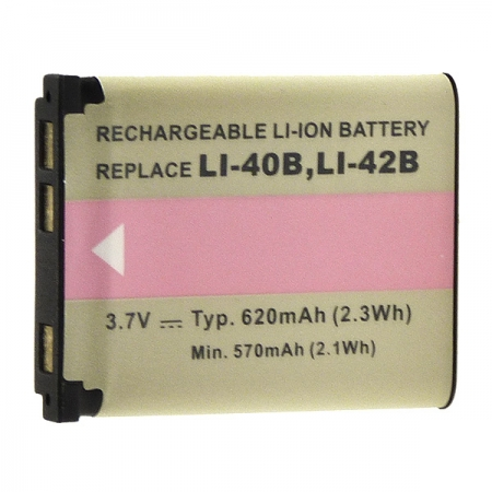Power3000 PL140B.354 - acumulator tip LI-40B/LI-42B pentru Olympus, 620mAh