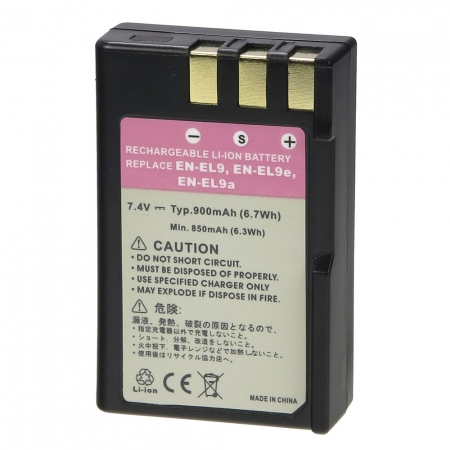 Power3000 PL196B.531 - acumulator tip EN-EL9 pentru Nikon, 900mAh