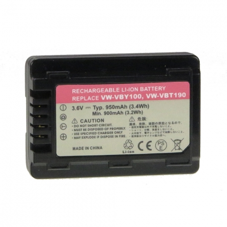 Power3000 PL382B.825 - acumulator replace tip Panasonic VW-VBY100,VW-VBT190 950mAh