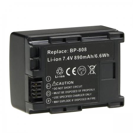 Power3000 PLW238D.725 - acumulator tip BP808 pentru Canon, 890mAh