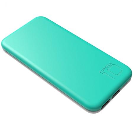 Puridea S2 - Baterie externa 10000mAh, 2 x USB, Verde