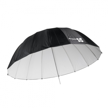 Quadralite Space 150 Silver - Umbrela reflexie parabolica, alb, 150 cm