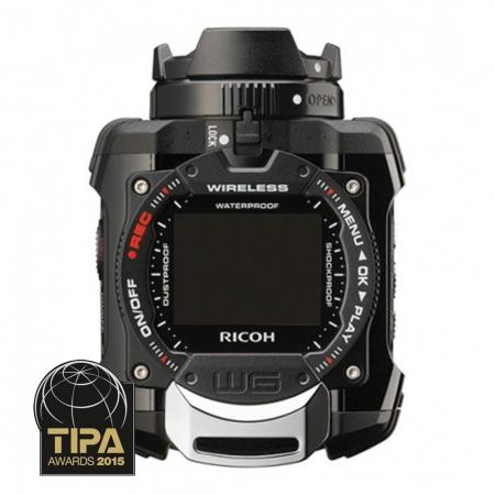 Ricoh WG-M1 - camera video de actiune subacvatica cu Wi-FI neagra