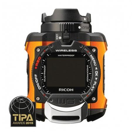 Ricoh WG-M1 - camera video de actiune subacvatica cu Wi-FI portocalie