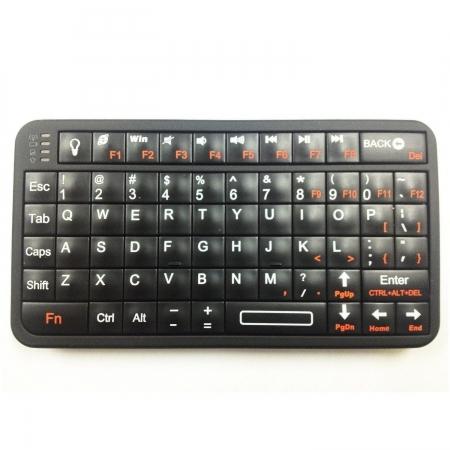 Rii 518 - Tastatura mini cu Bluetooth pentru smart TV, PC si dispozitive mobile, iluminata