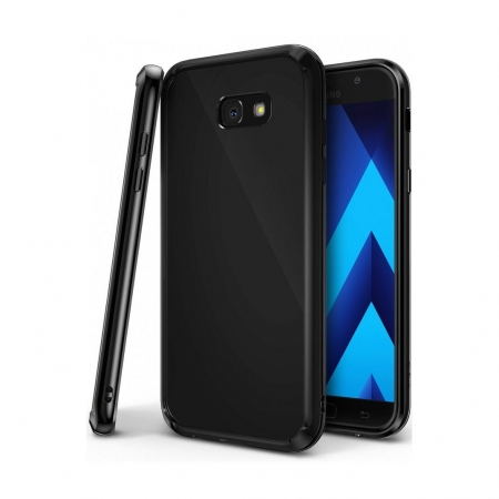 Ringke Fusion - Husa pentru Samsung Galaxy A3 (2017), Shadow Black + Bonus Folie protectie ecran