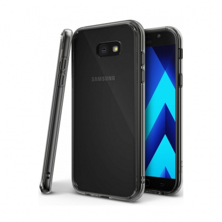 Ringke Fusion - Husa pentru Samsung Galaxy A3 (2017), Smoke Black + Bonus Folie protectie ecran