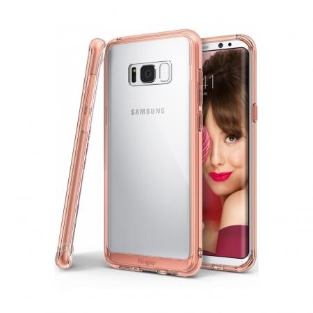Ringke Fusion - Husa pentru Samsung Galaxy S8 Plus, Rose Gold