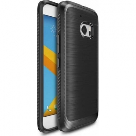 Ringke Husa HTC 10 + Folie Invisible Screen Defender, Onyx Black