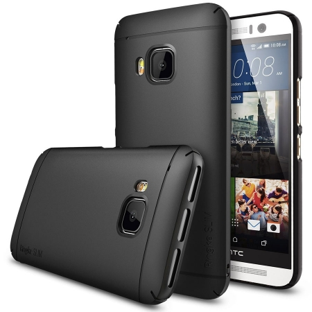 Ringke Husa HTC One M9 Ringke SLIM NEGRU+BONUS folie protectie display Ringke RS125023371