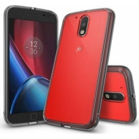 Ringke Husa Moto G4 / G4 Plus 2016 + Folie Invisible Screen Defender, Smoke Black