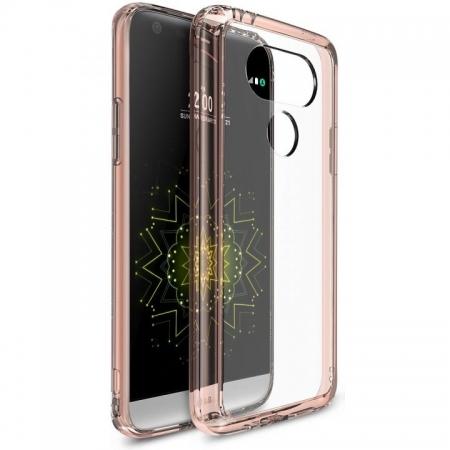 Ringke Husa eco fusion + folie LG G5 - rose gold