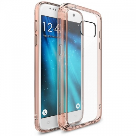 Ringke Husa eco slim + folie Galaxy S7 - rose gold