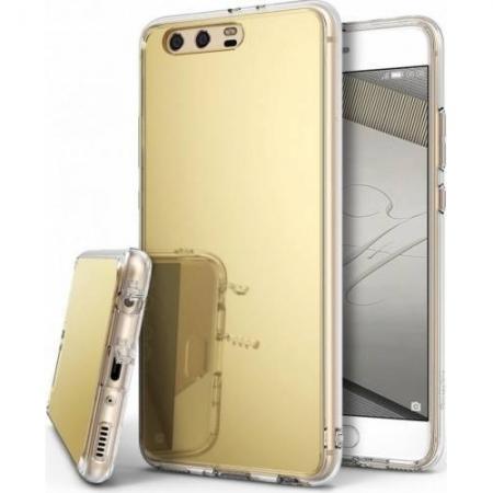 Ringke Mirror - Husa pentru Huawei P10, Royal Gold + Folie protectie ecran