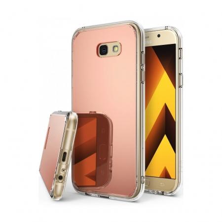 Ringke Mirror - Husa pentru Samsung Galaxy A5 (2017), Rose Gold + Bonus folie ecran