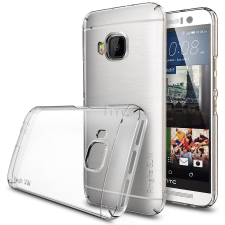 Ringke SLIM CRYSTAL TRANSPARENT - Husa HTC One M9 + BONUS folie protectie display Ringke