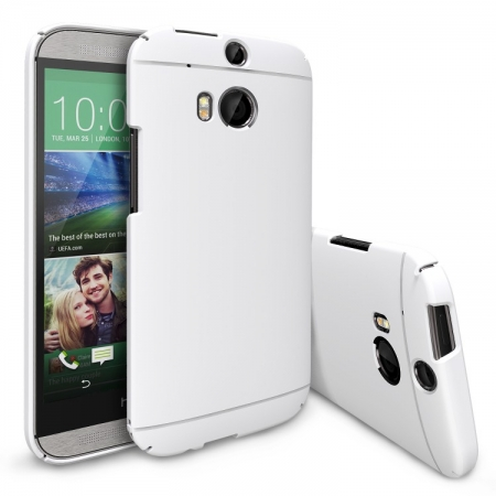 Ringke SLIM LF WHITE - Husa HTC One M8 + BONUS folie protectie display Ringke