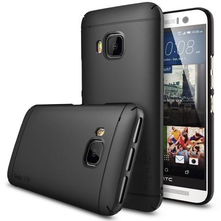 Ringke SLIM NEGRU - Husa HTC One M9 + BONUS folie protectie display Ringke