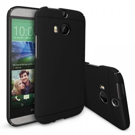 Ringke SLIM SF BLACK - Husa HTC One M8 + BONUS folie protectie display Ringke