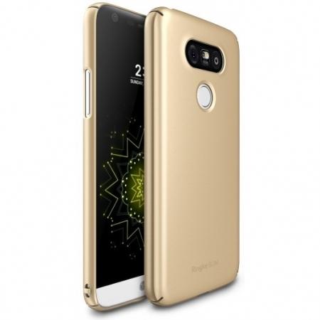 Ringke Slim - Husa LG G5, auriu + Bonus Folie de Protectie Ecran