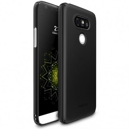 Ringke Slim - Husa LG G5, negru + Bonus Folie de Protectie Ecran