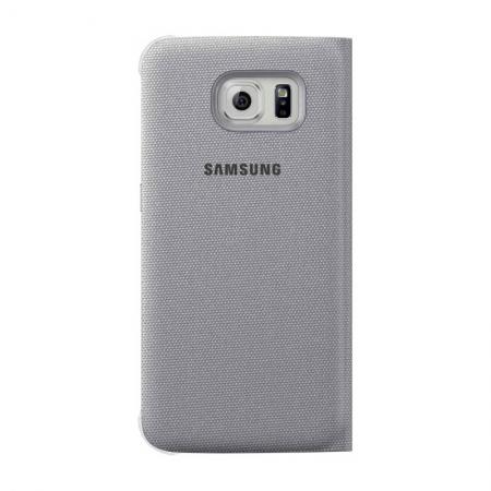Samsung EF-CG920 - Husa tip S-View pentru Galaxy S6 - Argintiu