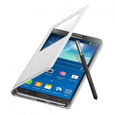 Samsung EF-CN900B - Husa piele S-View pentru Galaxy Note 3 (n9005) - Alb