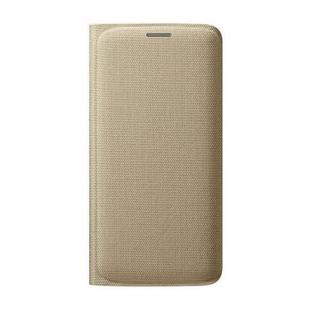 Samsung EF-WGG925 - Husa tip Flip Wallet pentru Galaxy S6 Edge (G925) - auriu textil