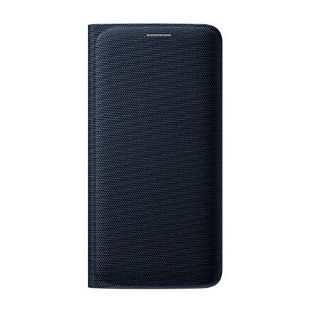 Samsung EF-WGG925 - Husa tip Flip Wallet pentru Galaxy S6 Edge (G925) - negru textil