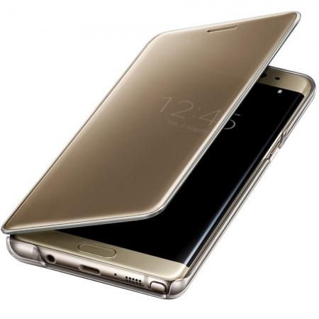 Samsung EF-ZN930CLEGWW - Husa Clear Clear View pentru Samsung Note 7, Auriu